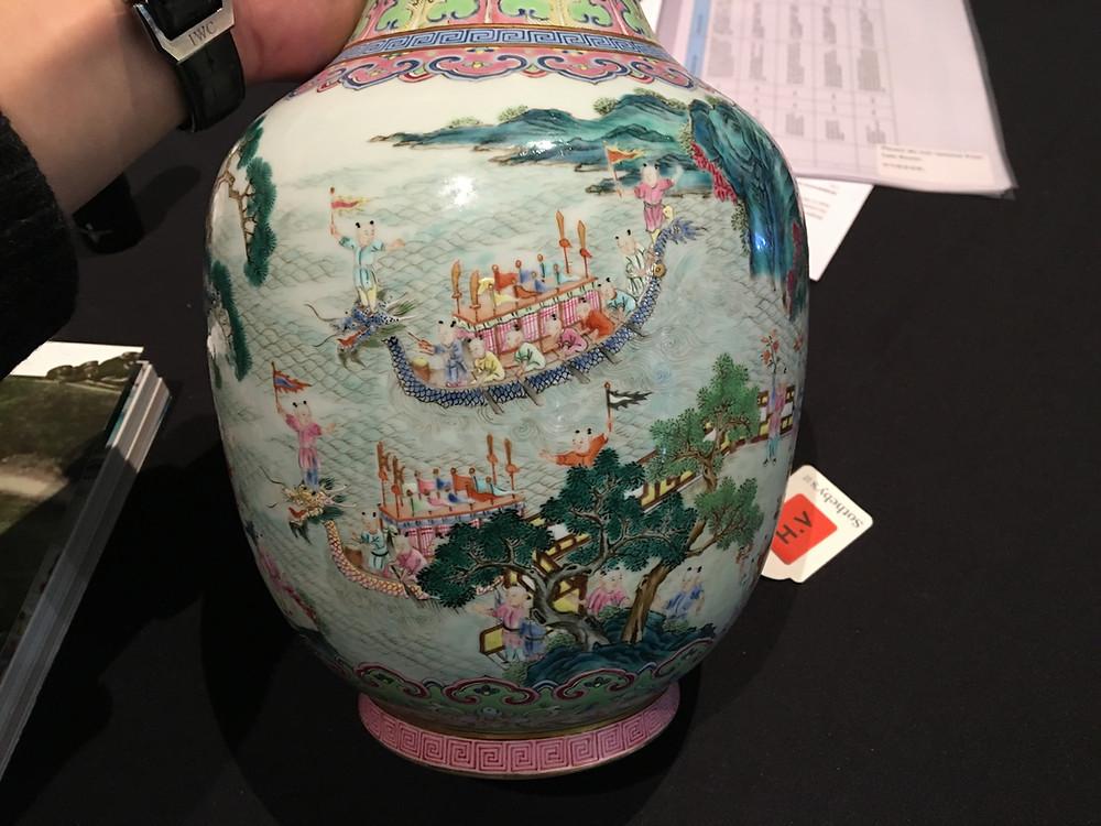 Detail Dragon Boat Vase, Jiaqing Period
