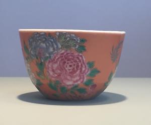 Famille Rose Peony Bowl, Qianlong Period