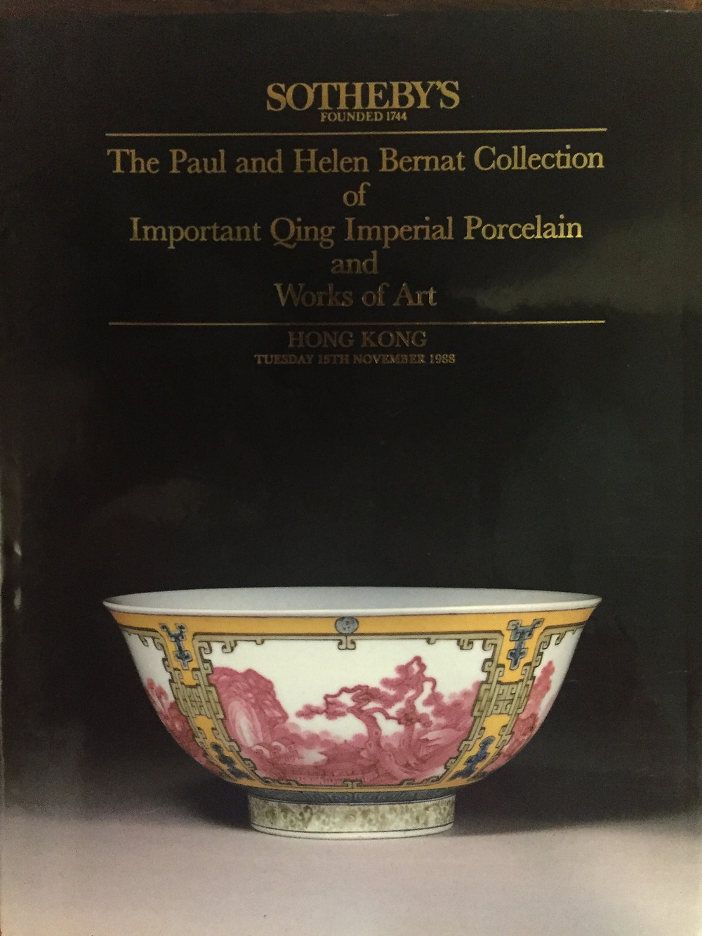 Sotheby's The Paul and Helen Bernat Collection of Important Qing Imperial Porcelain