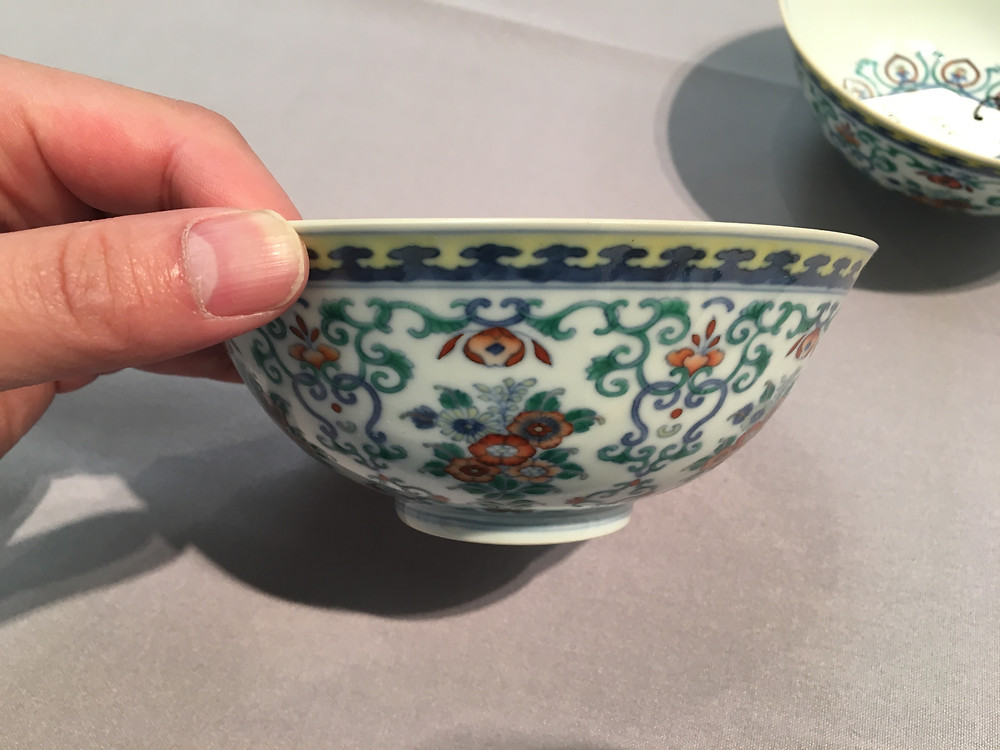 One Doucai Bowl, Side View
