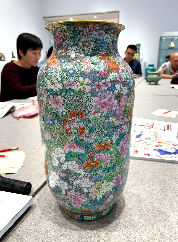 Jiaqing Famille Rose Millefleur Vase
