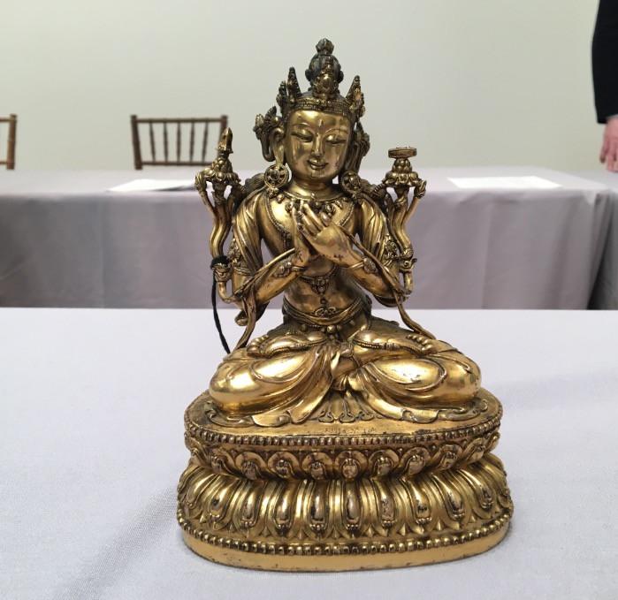 Gilt-Bronze Figure of Manjushri