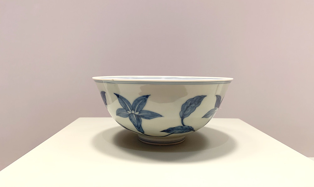 Blue and White 'Musk Mallow' 'Palace' Bowl, Chenghua Mark and Period