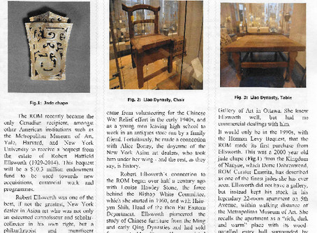 April Bishop White Committee Newsletter from the Royal Ontario Museum