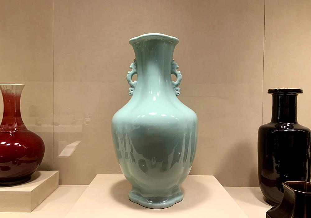 Large Celadon Vase, Qianlong Mark and Period