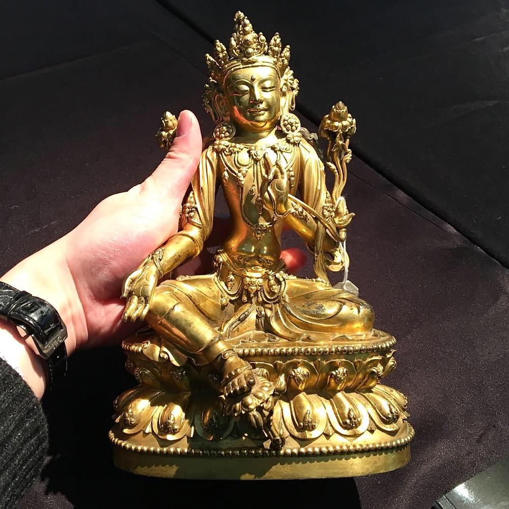 Seated Gilt Bronze Avalokiteshvara, Xuande