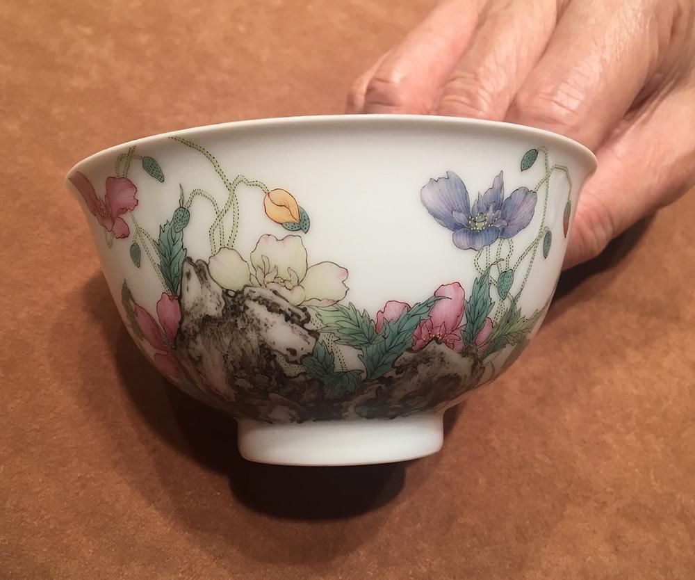 Qianlong Falangcai Poppy Bowl, Side View