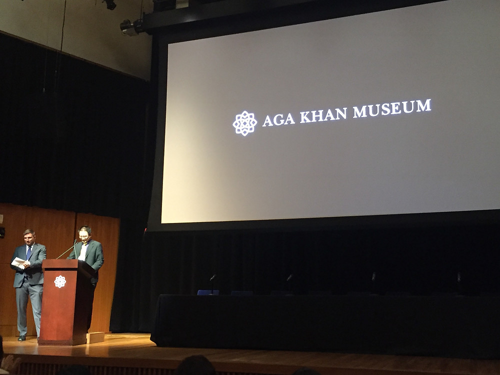 ROM hosts Dr Sascha Priewe and Dr Chen Shen at the Aga Khan Museum