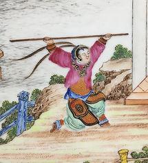 Chinese Export 'Rockefeller' Pattern Dish, Jiaqing Period Circa 1805