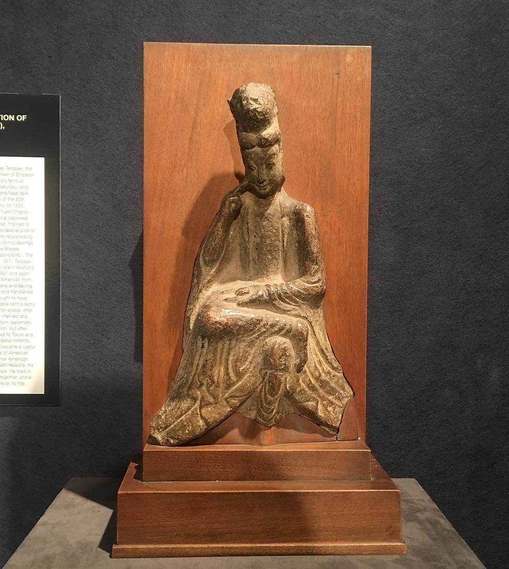Gray Limestone Figure of Maitreiya, Northern Wei Dynasty