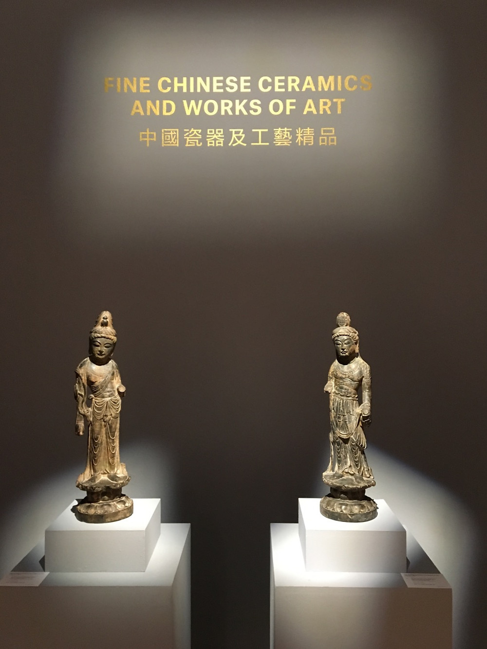 Two Tang Dynasty Limestone Sculptures