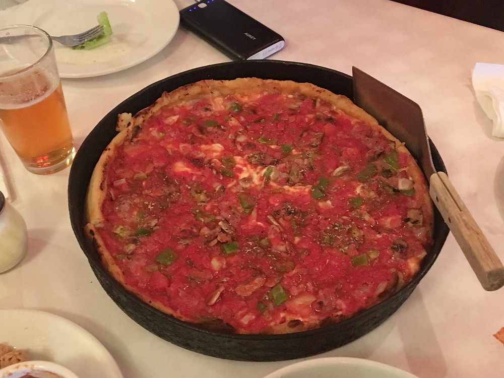Chicago Deep-Dish Pizza, April 2018