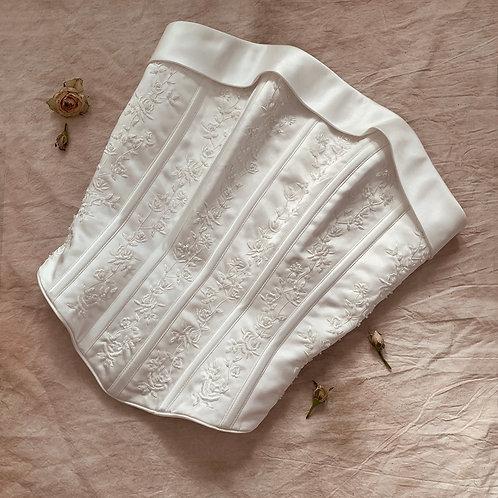 White flowers corset S