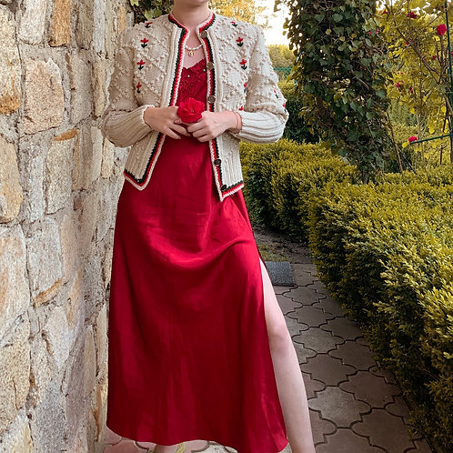 Satin vintage red