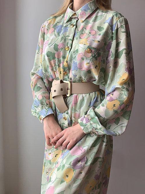Retro flora dress 1970