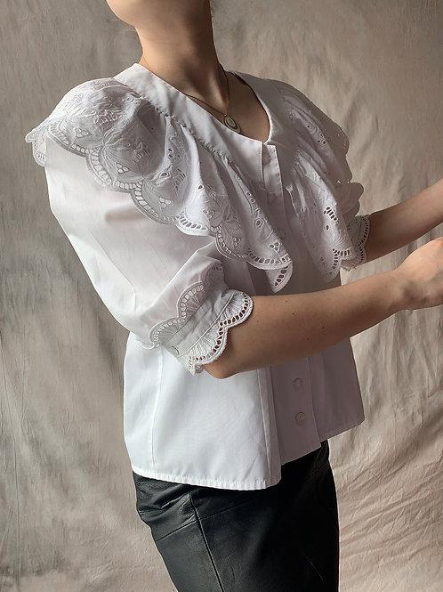 White vintage cotton