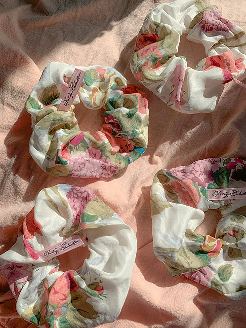 Jedwab naturalny - kwiatowa