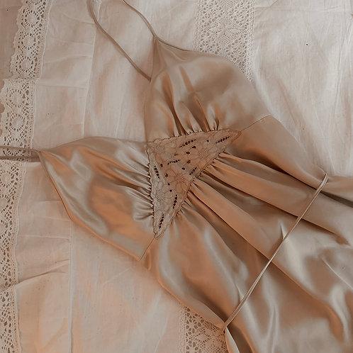 Satin long dress