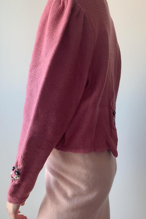 Pink puff flower