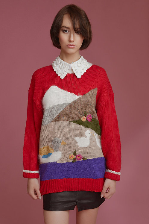 Sweter kaczki