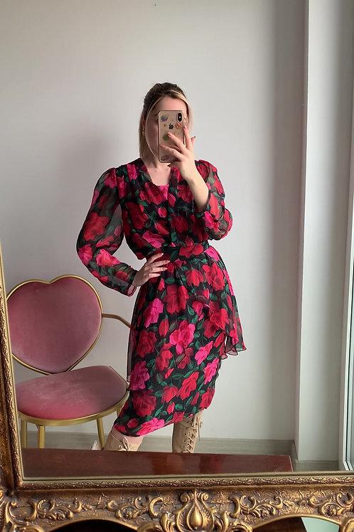 Pin-rose vintage dress