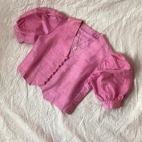 Silk pink puff