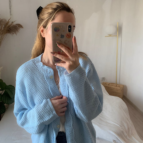 Blue kardigan