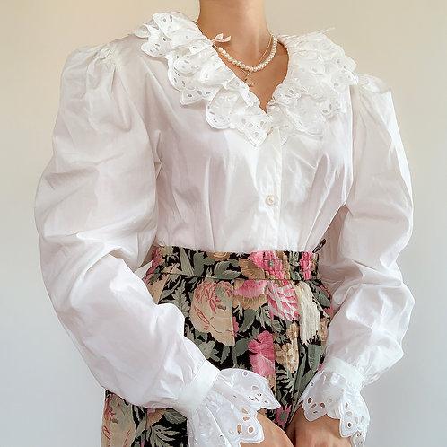 Cotton retro white