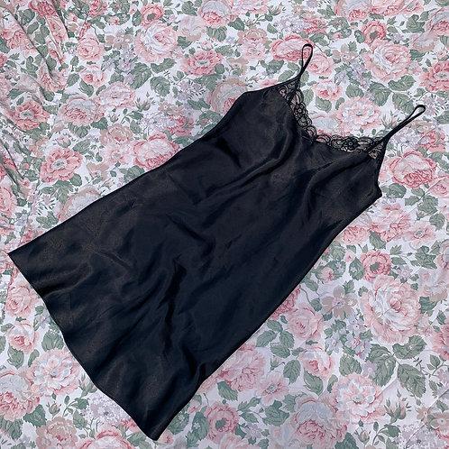 Simple black nightdress