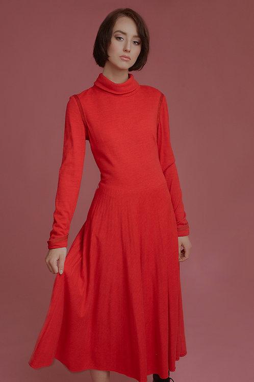 Sukienka wełna red