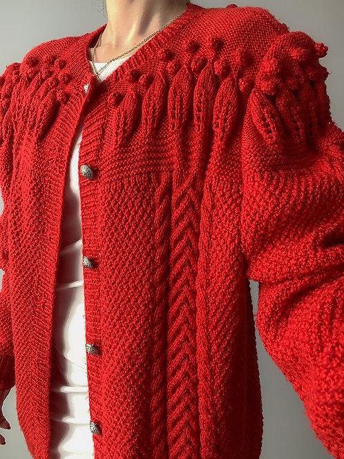 Red handmade vintage
