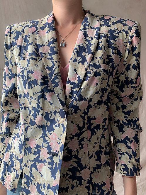 Jedwab naturalny - flower jacket