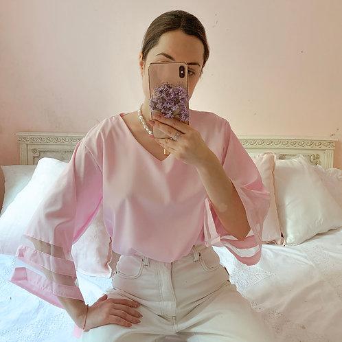 Ażur pastel pink