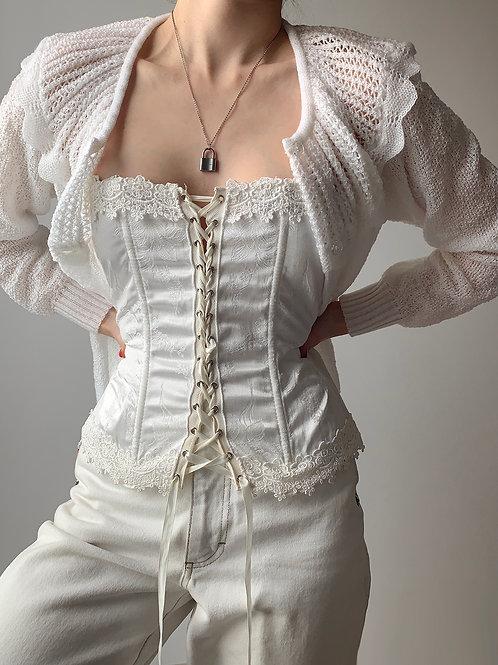 Vintage white corset M