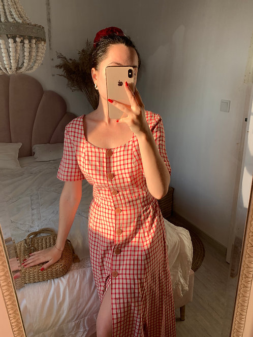 Picnic vintage dress L