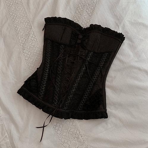 Black retro corset