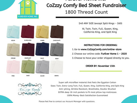 CoZzzy Comfy Bed Sheet Fundraiser