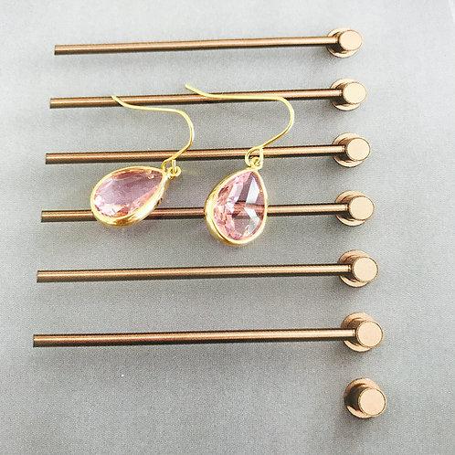 BLUSH Rose Gold 'Audrey Range' Drop Earrings (w)