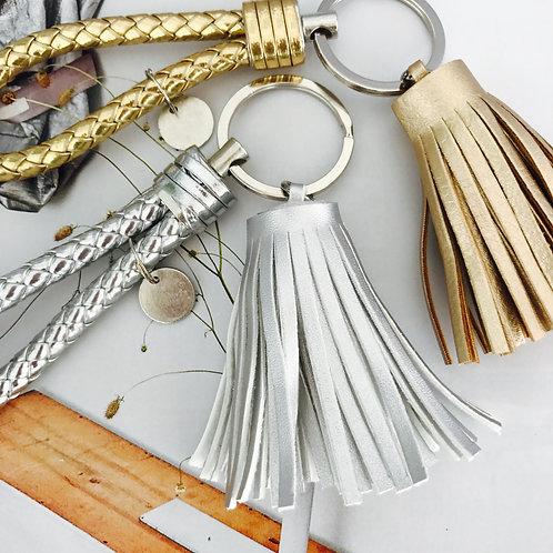 Gold / Silver Metallic Key ring