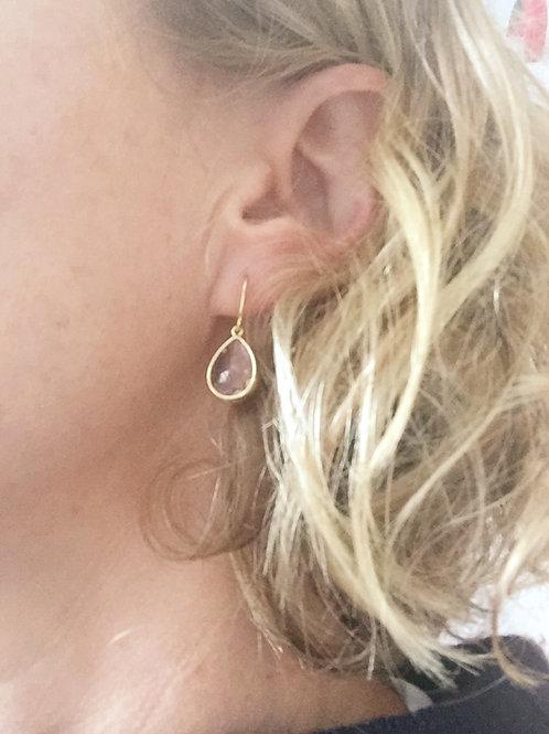 Champagne 'Audrey Range' Drop Earrings