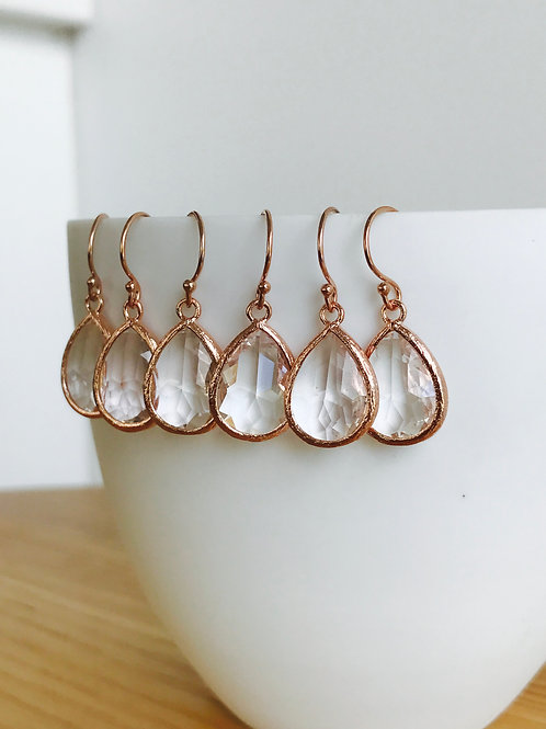 Audrey Drop Earrings - champagne