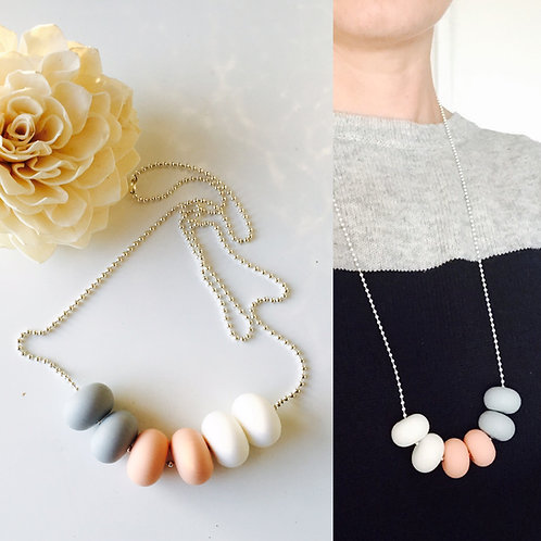 Pastel Mix Silicone chain necklace