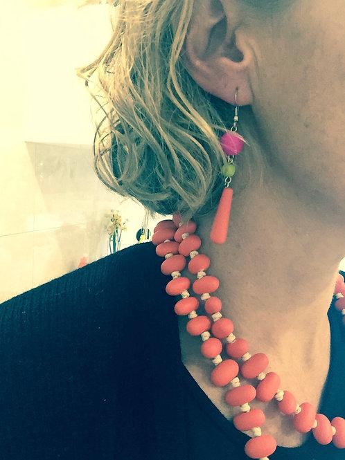 Anna Chip Necklace - orange