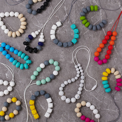 Silicone Necklace Mix (x6)