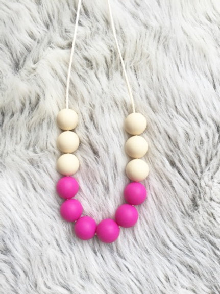 Magenta + Bone Royal Necklace (wholesale)