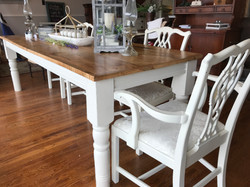 Farm Table with White Base