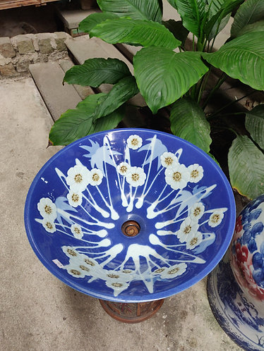 Blue/White Floral Basin