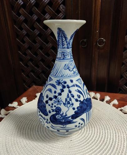 Blue/White Chinese Wine Bottle