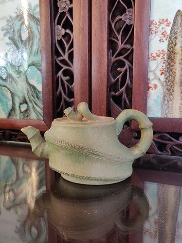 Pale Green Bamboo Teapot