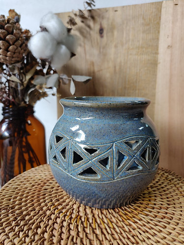 Blue Carved Vase